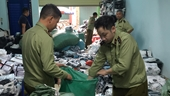 Phát hiện kho hàng chứa sản phẩm giả nhãn hiệu nổi tiếng cực khủng ở Hà Nội