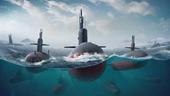 Ba tàu ngầm hạt nhân Nga cùng lúc xé băng nổi lên tại Bắc Cực