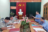 VKSND huyện Kỳ Sơn phúc tra việc thực hiện kiến nghị công tác THADS