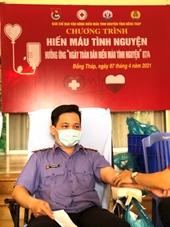 Tuổi trẻ VKSND tỉnh Đồng Tháp hưởng ứng ngày tình nguyện hiến máu toàn dân