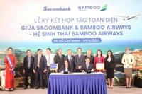 """Bamboo Airways và Sacombank ký kết hợp tác toàn diện """"Hai thương hiệu, triệu giá trị"""""""