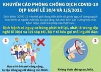 Khuyến cáo phòng chống dịch COVID-19 dịp nghỉ lễ 30 4 và 1 5 2021
