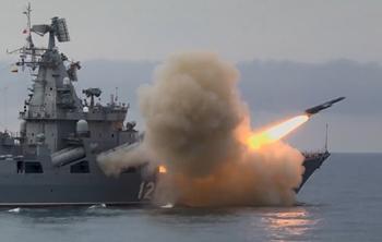 Video tàu tuần dương Nga Moskva lần đầu tiên bắn thử tên lửa Vulkan ở Biển Đen