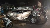Xe tải biển số Lào vò nát xe con, 1 người phụ nữ tử vong tại chỗ