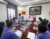 VKSND TP Móng Cái đẩy mạnh ứng dụng công nghệ thông tin trong báo cáo án