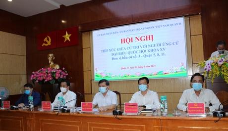 Viện trưởng VKSND tối cao Lê Minh Trí và các ứng cử viên tiếp xúc cử tri TP Hồ Chí Minh