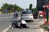 Kỷ luật cán bộ Công an đứng bấm điện thoại tại hiện trường vụ cướp taxi