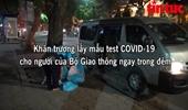 Khẩn trương lấy mẫu test COVID-19 cho cán bộ tại trụ sở Bộ Giao thông vận tải trong đêm