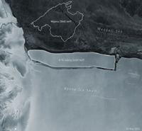 Tảng băng trôi lớn nhất thế giới vừa tách ra từ Nam Cực