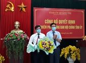 Viện trưởng VKSND huyện Triệu Phong được bổ nhiệm chức vụ Phó Trưởng ban Nội chính Tỉnh ủy