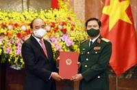 Chủ tịch nước trao quyết định bổ nhiệm Tổng Tham mưu trưởng Quân đội nhân dân Việt Nam