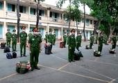 Sinh viên Đại học CSND ra quân phòng chống dịch bệnh COVID-19