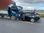 3 người trên xe con tử vong sau tai nạn với ô tô tải tại Hưng Yên