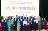 Bầu ban lãnh đạo HĐND, UBND tỉnh Lào Cai nhiệm kỳ 2021-2026