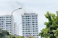 Đốt vàng mã trong cầu thang bộ gây cháy ở chung cư