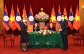 Tổng Bí thư Nguyễn Phú Trọng và Tổng Bí thư, Chủ tịch nước Lào chứng kiến Lễ ký kết văn kiện hợp tác giữa Việt Nam - Lào