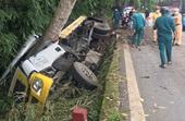 Lật xe chở nhựa trên đèo Bảo Lộc, 2 người tử vong tại chỗ