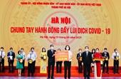 Agribank ủng hộ TP Hà Nội 10 tỉ đồng cho Quỹ vắc xin COVID-19 và công tác phòng chống dịch