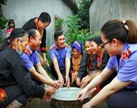 VKSND tỉnh Quảng Ninh mang nước sạch đến với dân bản