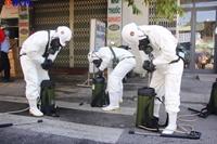 Đà Nẵng phun khử khuẩn các phường đang phong tỏa