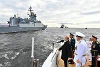 100 tàu chiến và máy bay tham gia diễu binh kỉ niệm 325 năm thành lập Hải quân Nga