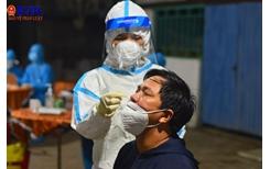 Trằng đêm lấy mẫu xét nghiệm SARS-CoV-2 tại lò mổ Đà Sơn