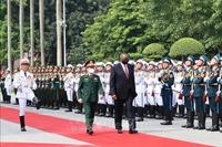 Đại tướng Phan Văn Giang đón, hội đàm với Bộ trưởng Quốc phòng Mỹ Lloyd Austi