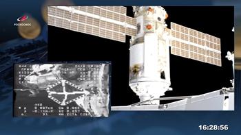 Khoảnh khắc mô đun đa năng Nauka của Nga cập bến thành công Trạm Vũ trụ Quốc tế ISS