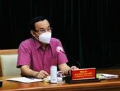 Bí thư Thành ủy Nguyễn Văn Nên Trong tháng 8, phấn đấu 70 người dân được tiêm vắc xin