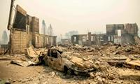 Cháy rừng lịch sử biến thị trấn cổ đẹp như tranh ở bắc California, Mỹ thành đống tro tàn