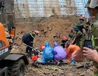 Quảng Ninh Mưa lớn gây sạt lở kè, 4 công nhân bị vùi lấp