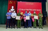 VKSND huyện Quế Phong được khen thưởng trong điều tra, khám phá vụ nam sinh đâm 2 mẹ con