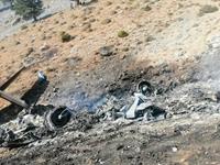 Hiện trường máy bay Be-200 của quân đội Nga cháy rụi khi tham gia chữa cháy rừng ở Thổ Nhĩ Kỳ