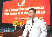 Thượng tá Lê Hữu Tuấn được bổ nhiệm làm Phó Giám đốc Công an tỉnh Đắk Lắk