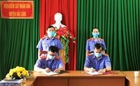 VKSND huyện Hải Lăng ký cam kết phòng chống dịch COVID-19 trong tình hình mới