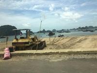 Dự án hàng trăm tỉ đồng ở TP Hạ Long sử dụng cát lậu để thi công