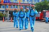 Diễn tập phòng cháy chữa cháy và cứu nạn cứu hộ tại khu vực điều trị COVID-19