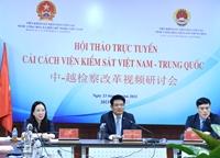 Hội thảo trực tuyến VKSND tối cao hai nước Việt Nam - Trung Quốc