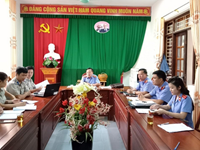 Chi cục THADS huyện Đô Lương tiếp thu kiến nghị của VKS