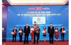 Masterise Homes vào Top 10 Thương hiệu mạnh Việt Nam 2021 ngay trong năm đầu tiên được đề cử