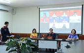 Sinh viên Trường Đại học Kiểm sát Hà Nội thực hành diễn án trực tuyến