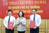 Bổ nhiệm 2 Phó vụ trưởng Ban Tổ chức Trung ương qua thi tuyển