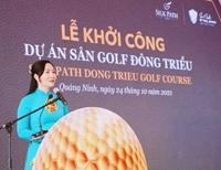 Quảng Ninh khởi công dự án sân Golf Đông Triều