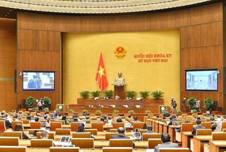 Quốc hội thảo luận toàn thể trực tuyến về dự án Luật SĐ,BS một số điều của Bộ luật Tố tụng hình sự