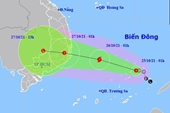Áp thấp nhiệt đới khả năng thành bão hướng vào Bình Định - Bình Thuận