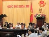 Khai mạc phiên họp lần thứ 28 Ủy ban Thường vụ Quốc hội