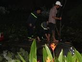 Đập kính ô tô, cứu 14 hành khách dưới hố nước