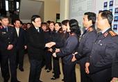 Chủ tịch nước Trương Tấn Sang thăm và làm việc với VKSND tỉnh Lào Cai