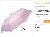 Ô chống nắng ngăn tia UV 100 giá 700 nghìn đồng Lừa đảo