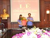Bổ nhiệm Lãnh đạo cấp phòng Vụ Thi đua - Khen thưởng, VKSNDTC